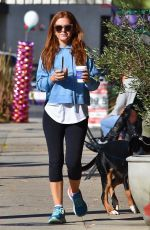 ISLA FISHER Out with Her Dog in Studio City 01/09/2019
