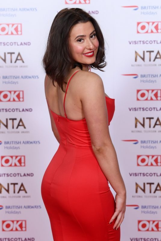JASMINE ARMFIELD at 2019 National Television Awards in London 01/22/2019