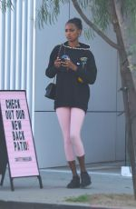 JASMINE TOOKES and CHANTEL JEFFRIES at Pilates Class in Los Angeles 01/28/2019S