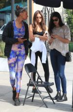 JASMINE TOOKES, SARA SAMPAIO, JOCELYN CHEW and CHANTEL JEFFIRES at Urth Caffe in West Hollywood 01/29/2019