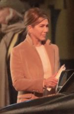 JENNIFER ANISTON on the Set of The Morning Show in Los Angeles 01/14/2019