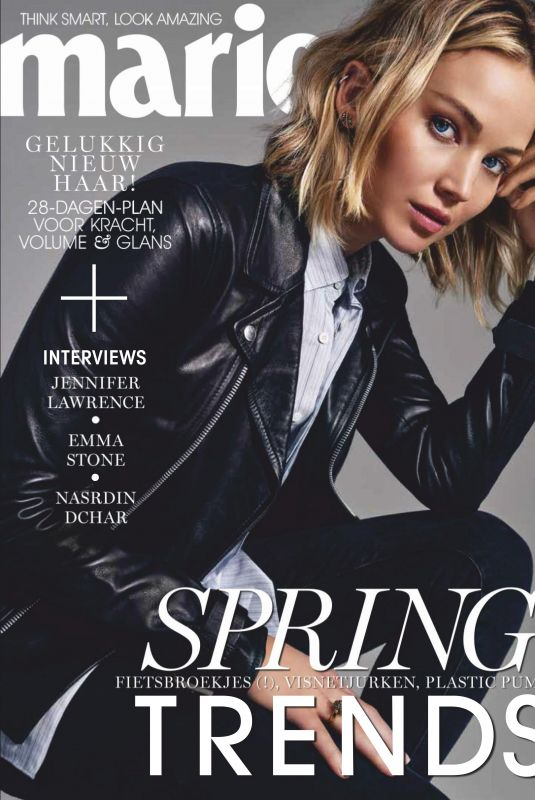 JENNIFER LAWRENCE in Marie Claire Magazine, Netherlands February 2019