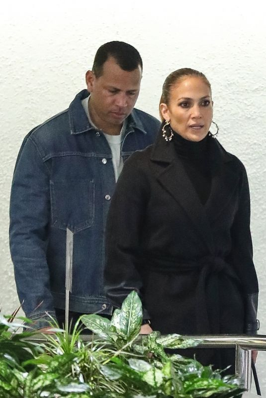 JENNIFER LOPEZ and Alex Rodriguez Out in Westwood 05/01/2019