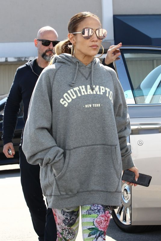 JENNIFER LOPEZ Arrives at a Gym in Miami 01/21/2019