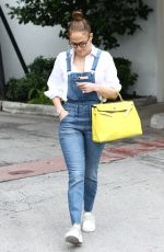 JENNIFER LOPEZ in Denim Overalls Out Shopping in Miami 01/27/2019