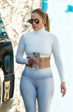 JENNIFER LOPEZ in Tights Leaves a Gym in Miami 01/19/2019