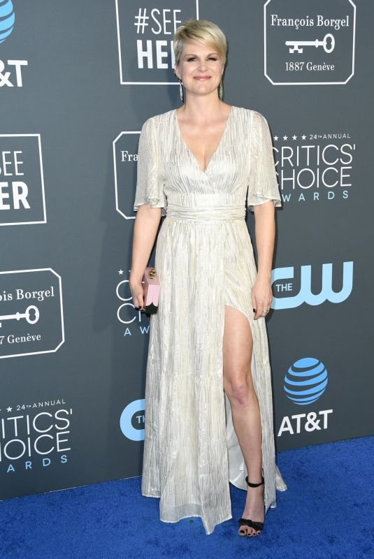 JENNIFER ROBERTSON at 2019 Critics' Choice Awards in Santa Monica 01/13/2019