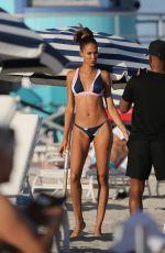 JOAN SMALLS in Bikini at a Beach in Miami 01/07/2019