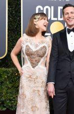 JOANNA NEWSOM and Andy Samberg at 2019 Golden Globe Awards in Beverly Hills 01/06/2019