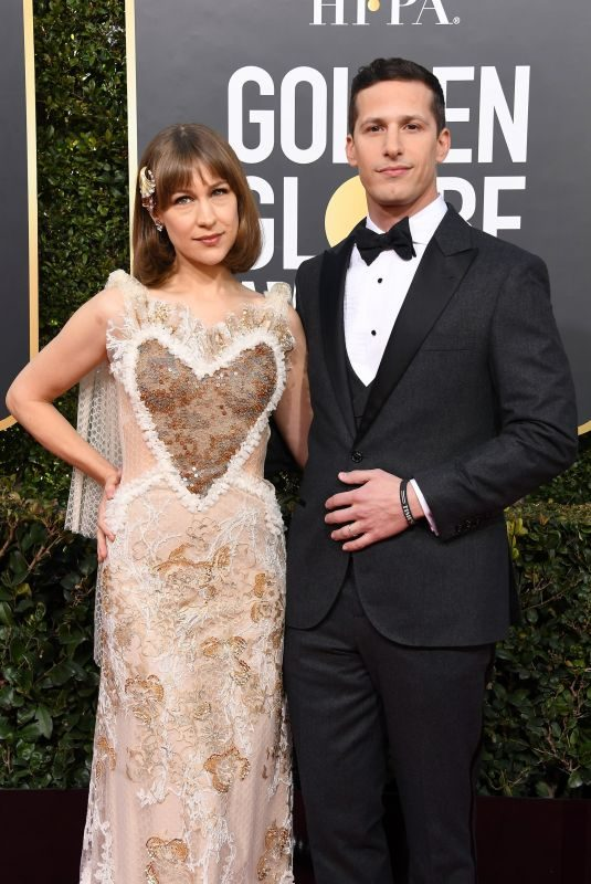 JOANNA NEWSOM and Andy Samberg at 2019 Golden Globe Awards in Beverly Hills 01/06/2019