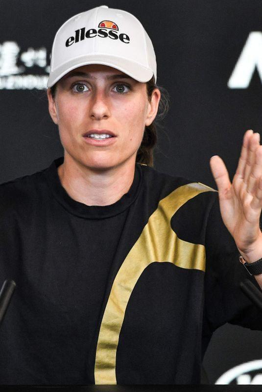 JOHANNA KONTA at 2019 Australian Open Media Day in Melbourne 01/12/2019