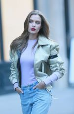 JOSEPHINE SKRIVER on the Set of Maybelline Commercial in New York 01/11/2019