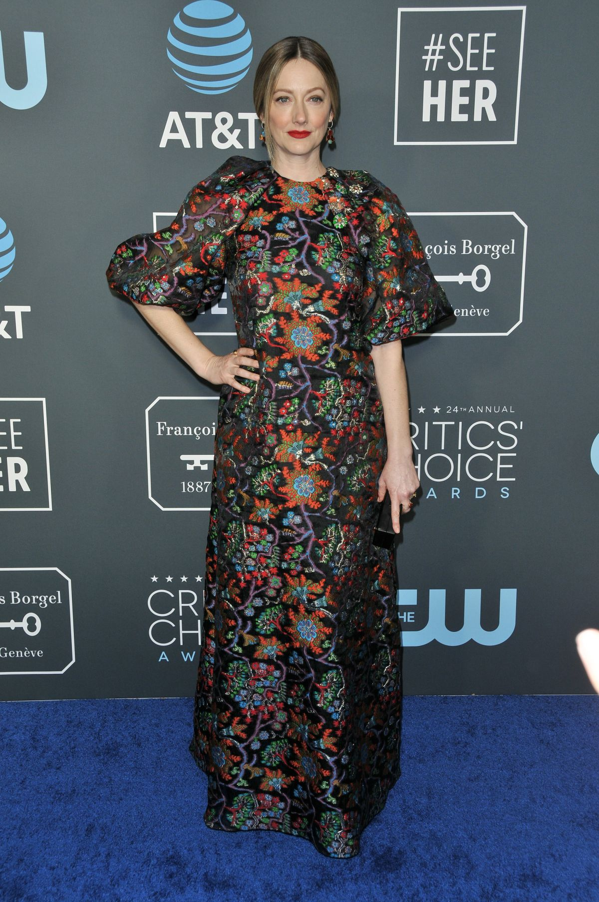 JUDY GREER at 2019 Critics' Choice Awards in Santa Monica 01/13/2019