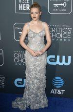 JULIA GARNER at 2019 Critics' Choice Awards in Santa Monica 01/13/2019