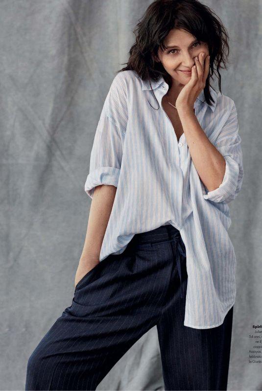 JULIETTE BINOCHE in Elle Magazine, Italy February 2019