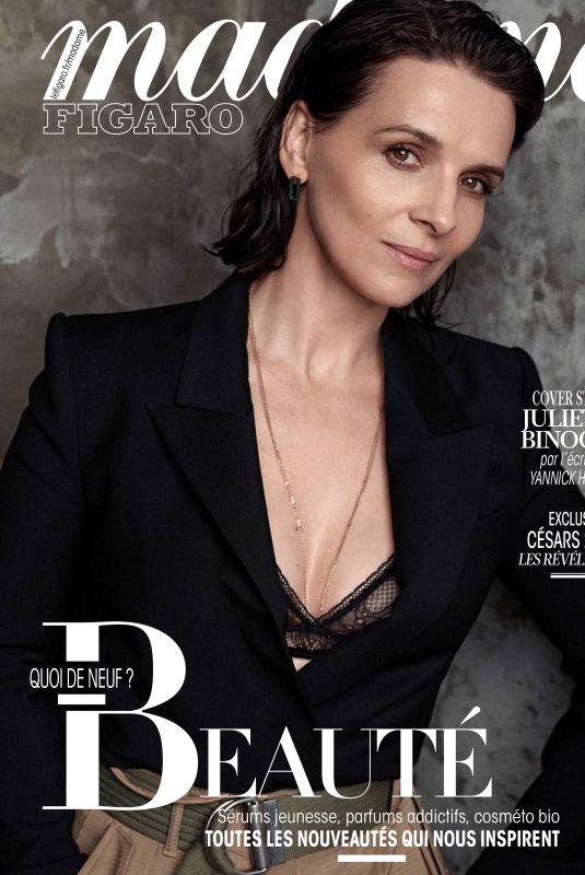 JULIETTE BINOCHE in Madame Figaro Magazine, January 2019