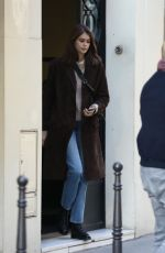 KAIA GERBER Leaves Chanel Office in Paris 01/18/2019