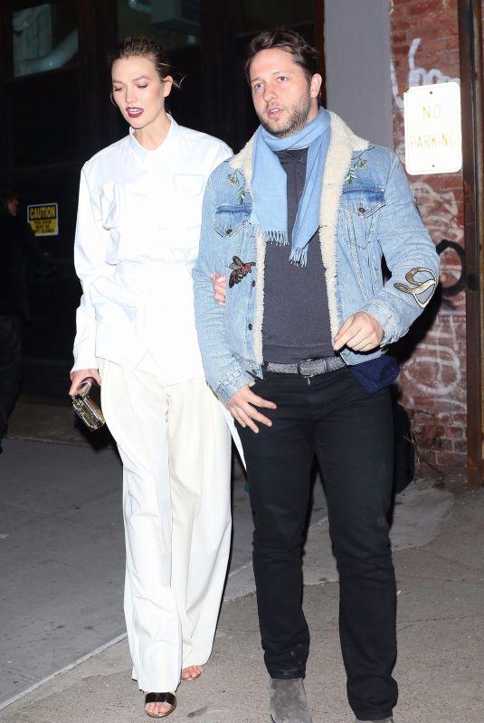 KARLIE KLOSS and Derek Blasberg Leaves Chrome Hearts & Louis Vuitton Dinner in New York 01/09/2019