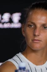 KAROLINA PLISKOVA at 2019 Australian Open Press Conference in Melbourne 01/19/2019