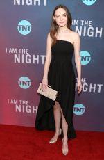KASSIDY SLAUGHTER I Am the Night Premiere in Hollywood 01/24/2019