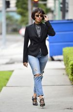 KAT GRAHAM in Ripped Jeans Out in Los Angeles 01/15/2019