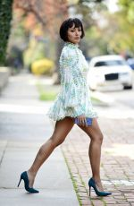KAT GRAHAM in Short Dress Out in Los Angeles 01/09/2019