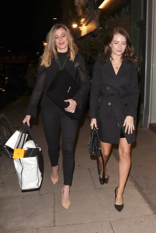 KATE and LOTTIE MOSS at La Famiglia Restaurant in London 01/09/2019
