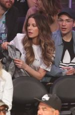 KATE BECKINSALE at LA Lakers vs Cleveland Cavaliers Game in Los Angeles 01/13/2019