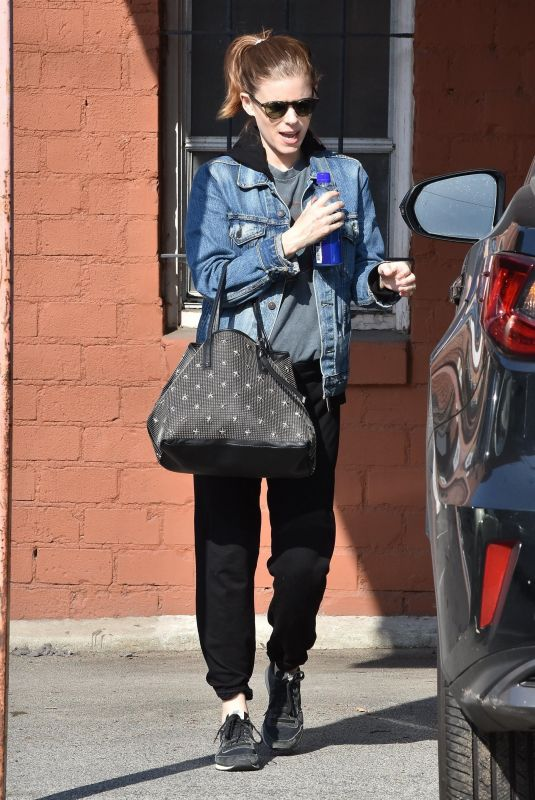 KATE MARA Leaves Ballet Bodies Class in West Hollywood 01/30/2019