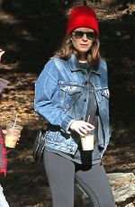 KATE MARA Out Hikinig in Los Angeles 01/10/2019