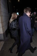 KATE MOSS and Count Nikolai von Bismarck Out for Her Birthday in London 01/16/2019
