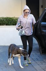 KATE UPTON Out with Her Dog in Beverly Hills 01/03/2019