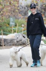 KATHRYN NEWTON Out with Her Dogs in Los Angeles 01/07/2019