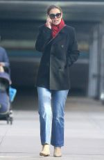 KATIE HOLMES Out and About in New York 01/11/2019