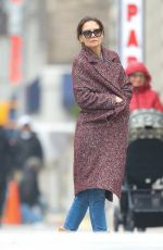 KATIE HOLMES Out in New York 01/08/2019