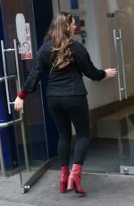 KELLY BROOK Arrives at Global Radio in London 12/01/2019