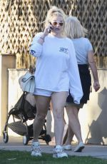 KESHA in Shorts Out in Venice Beach 01/27/2019