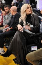 KHLOE KARDASHIAN at Cavaliers vs LA Lakers Game in Los Angeles 01/13/2019