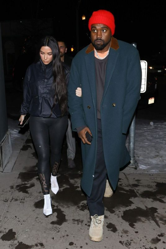 KIM KARDASHIAN and Kanye West at Matsuhisa Restaurant in Aspen 12/30/2018
