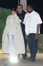 KIM KARDASHIAN and Kanye West Leaves Nobu in Malibu 01/30/2019