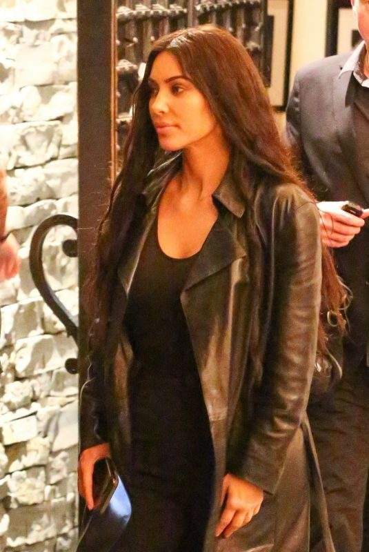 KIM KARDASHIAN Night Out in Studio City 01/24/2019