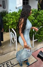KIM KARDASHIAN Out and About in Miami 01/05/2019