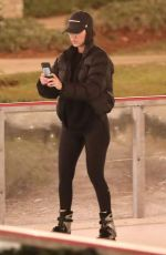 KOURTNEY KARDASHIAN and LARSA PIPPEN Out Ice Skating in Los Angeles 01/13/2019