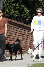 KRISTEN STEWART and SARA DINKIN Out with Their Dogs in Los Angeles 01/10/2019