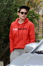 KRISTEN STEWART Out with Her Dog in Los Angeles 01/28/2019