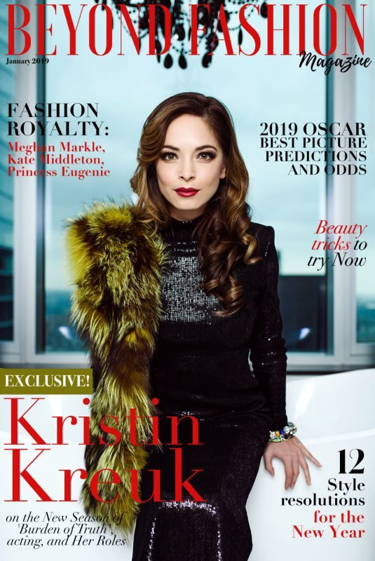 KRISTIN KREUK in Beyond Fashion Magazine, Canada January 2019