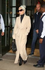 LADY GAGA Leaves Her Hotel in New York 01/09/2019