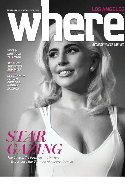 LADY GAGA on the Cover of Where Los Angeles Magazine, February 2019