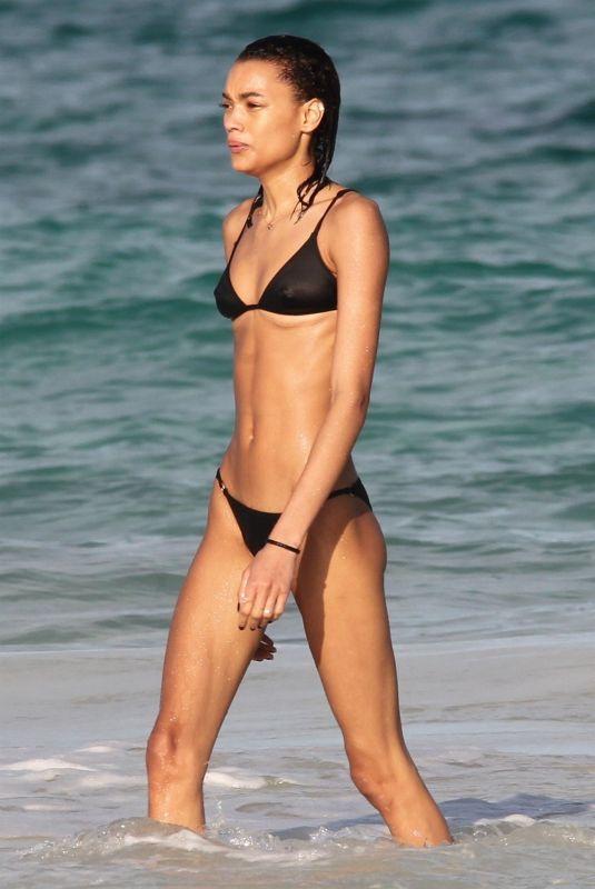 LAMEKA FOX in Bikini at a Beach in Tulum 01/13/2019