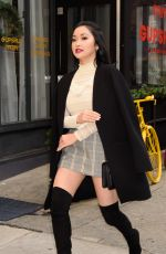 LANA CONDOR in Plaid Skirt Out in New York 01/09/2019